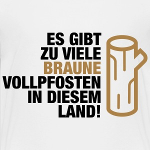 Der er for mange brune Vollpfosten! (2015) T-shirts - Teenager premium T-shirt