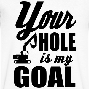 digger / power shovel: your hole is my goal Koszulki - Koszulka męska Canvas z dekoltem w serek