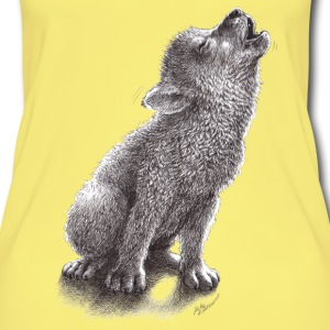 Little cute howling wolf - Women's Organic Tank Top
