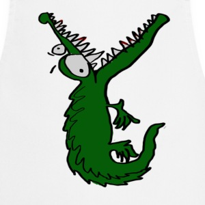 hungry crocodile  Aprons - Cooking Apron