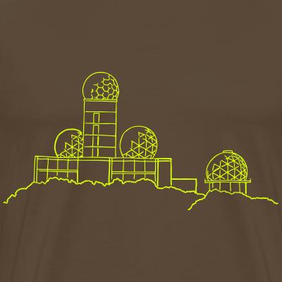 Teufelsberg Abhörstatio neon-grün Berlin t-shirt
