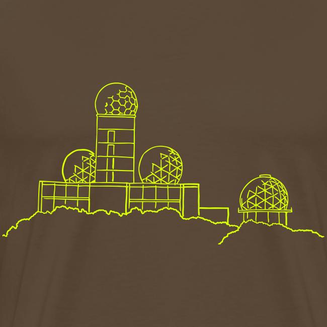 Teufelsberg (Abhörstation) (neon-gelb)