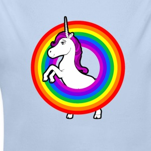 Unicorn in the rainbow Baby Bodysuits - Longlseeve Baby Bodysuit