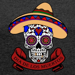 Dia de los muertos T-Shirts - Women's T-shirt with rolled up sleeves