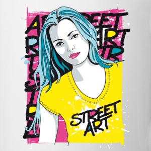 Mug arty girl - street art design - Tasse