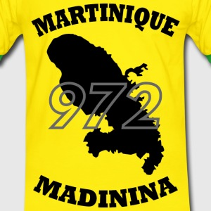 972_Martinique_black Tee shirts - T-shirt contraste Homme