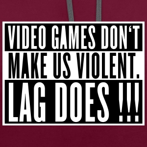 Video Game Lag Pullover & Hoodies - Kontrast-Hoodie