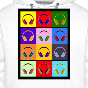 Pop Art Kopfhörer; Pop Art Headphones Sweat-shirts - Sweat-shirt à capuche Premium pour hommes