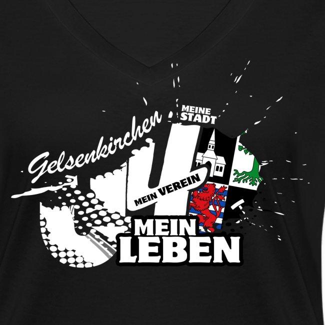 Gelsenkirchen Shirt V-Ausschnitt - Damen
