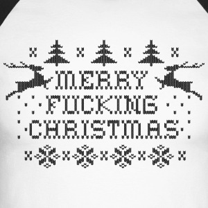Merry Fucking Christmas Long sleeve shirts - Men's Long Sleeve Baseball T-Shirt