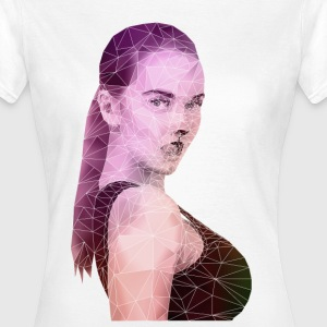 Polygon Face Coloreffect T-Shirts - Frauen T-Shirt