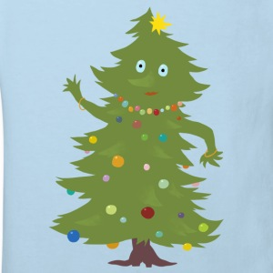 Light blue Christmas Tree Shirts - Kids' Organic T-shirt