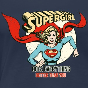 Supergirl Femme Tee Shirt Does Everything - T-shirt Premium Femme