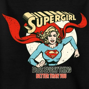 Supergirl Teenager T-Shirt Does Everything - Teenager T-Shirt