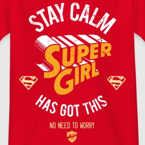Supergirl Teenager T-Shirt Stay Calm - Teenager T-shirt