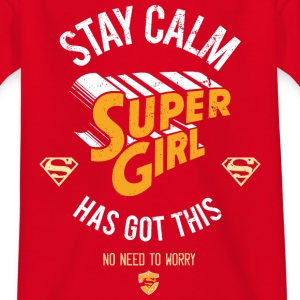 Supergirl Teenager T-Shirt Stay Calm - Teenager-T-shirt