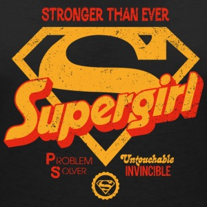 Supergirl Frauen T-Shirt Stronger Than Ever - Frauen T-Shirt mit V-Ausschnitt