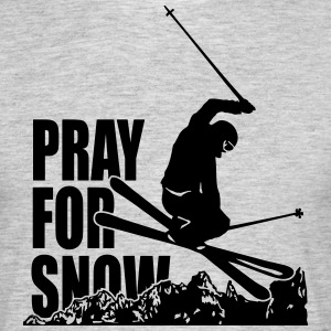 PRAY FOR SNOW T-shirts - Mannen T-shirt