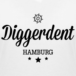 Diggerdent(c) Hamburg decadent T-Shirts - Women's V-Neck T-Shirt