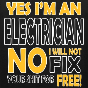 Electrician - I will not fix your shit for free Tanktoppar - Premiumtanktopp herr