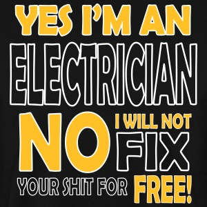 Electrician - I will not fix your shit for free Gensere - Genser for menn