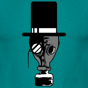 Sir cilindrische bril monocle heer Mr. Hat gasmask T-shirts - Mannen T-shirt