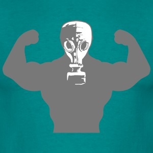 Muscles Body Builders Gas Mask Protection groovy g T-Shirts - Men's T-Shirt