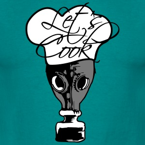 Laten we Cook zegt Breaking Gas Mask Crystal meth  T-shirts - Mannen T-shirt