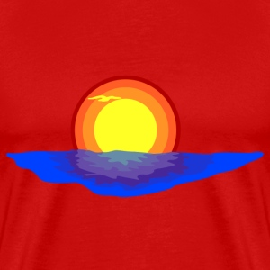 Sunset in the sea T-Shirts - Men's Premium T-Shirt