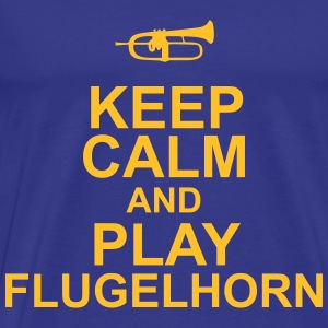 Keep Calm and play Flugelhorn Camisetas - Camiseta premium hombre