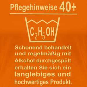 """Geburtstag T-Shirts mit """"40 Geburtstag Pflegehinweise"""""""