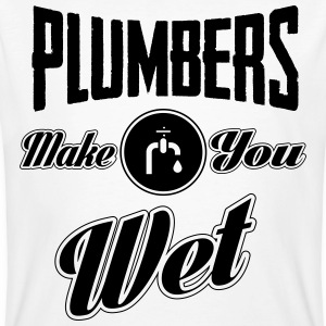 Plumbers make you wet T-Shirts - Männer Bio-T-Shirt