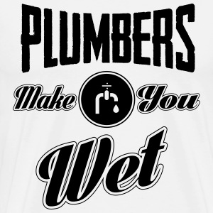Plumbers make you wet T-skjorter - Premium T-skjorte for menn