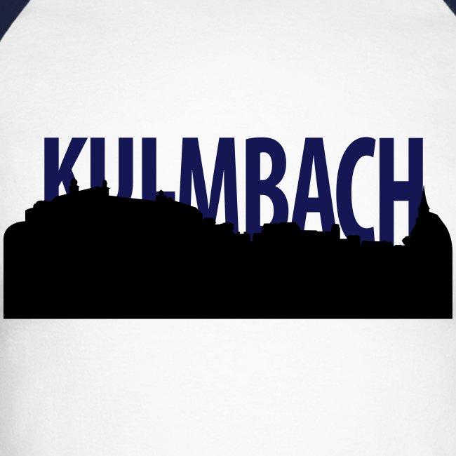 Zweifarbiges Schirt mit Kulmbach Silhouette und Schriftzug
