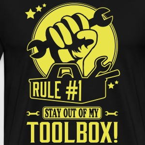 Rule #1: stay out of my toolbox T-Shirts - Men's Premium T-Shirt