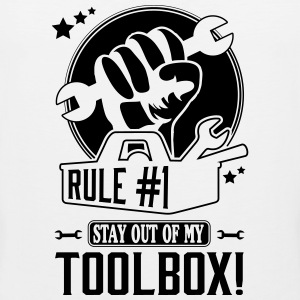 Rule #1: stay out of my toolbox Tank Tops - Men's Premium Tank Top