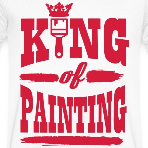 king of painting Tee shirts - T-shirt Homme col V