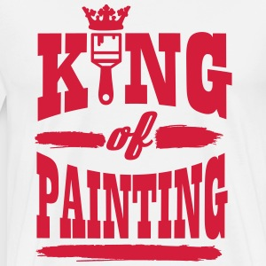 king of painting T-skjorter - Premium T-skjorte for menn