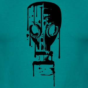 cool design gasmasker patroon tattoo bloeddruppel  T-shirts - Mannen T-shirt