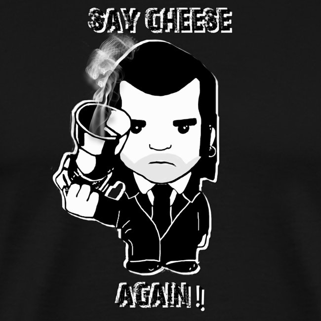 tee shirt - homme - Say cheese again 1