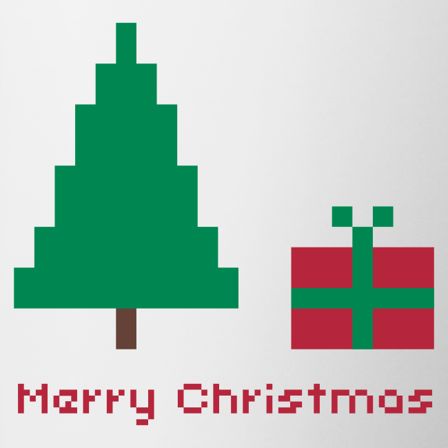 Tasse - 8 bit - merry christmas