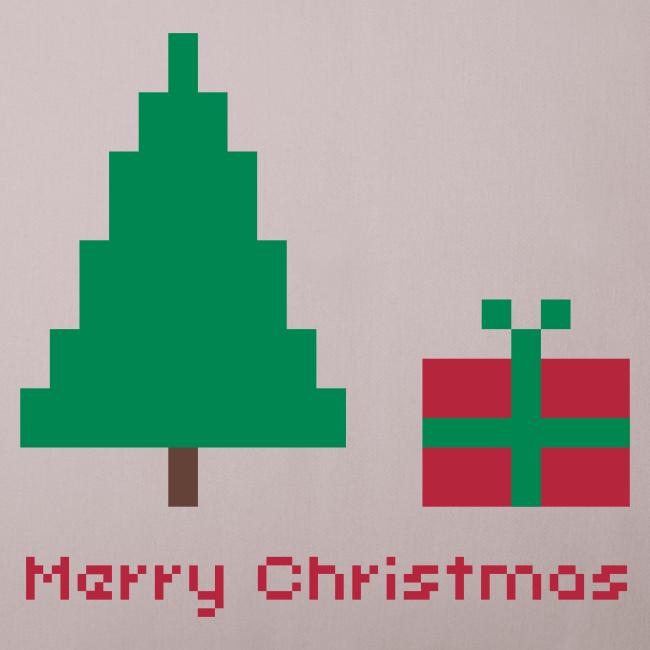 Sofakissen - 8 bit - merry christmas