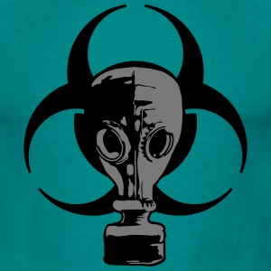 biohazard logo sign symbol toxic virus biological  T-Shirts - Men's T-Shirt