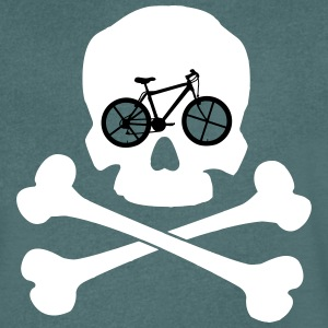 Bike ore Die - Skull T-Shirts - Men's V-Neck T-Shirt