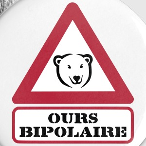 Ours Bipolaire Badges - Badge petit 25 mm
