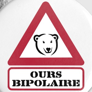 Ours Bipolaire Badges - Badge moyen 32 mm