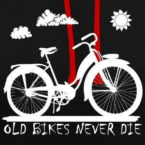 Old Bikes never die Sweat-shirts - Sweat-shirt contraste