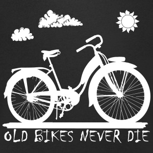 Old Bikes never die Cycling T-Shirt - Men's V-Neck T-Shirt