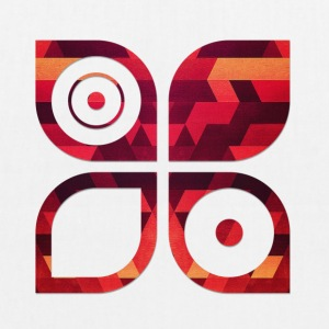 Abstract minimal geometry Hipster Art (Red Gold) Vesker & ryggsekker - Bio-stoffveske