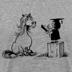 Thelwell - Pony is learning at school - Camiseta premium hombre